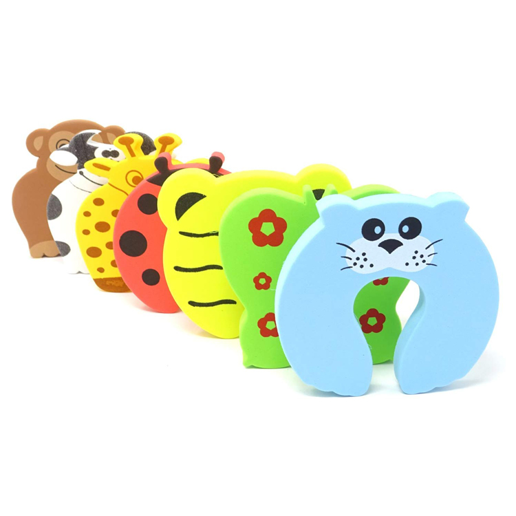Best selling Children Safety Colorful Cartoon Animal Baby Foam Door Stopper