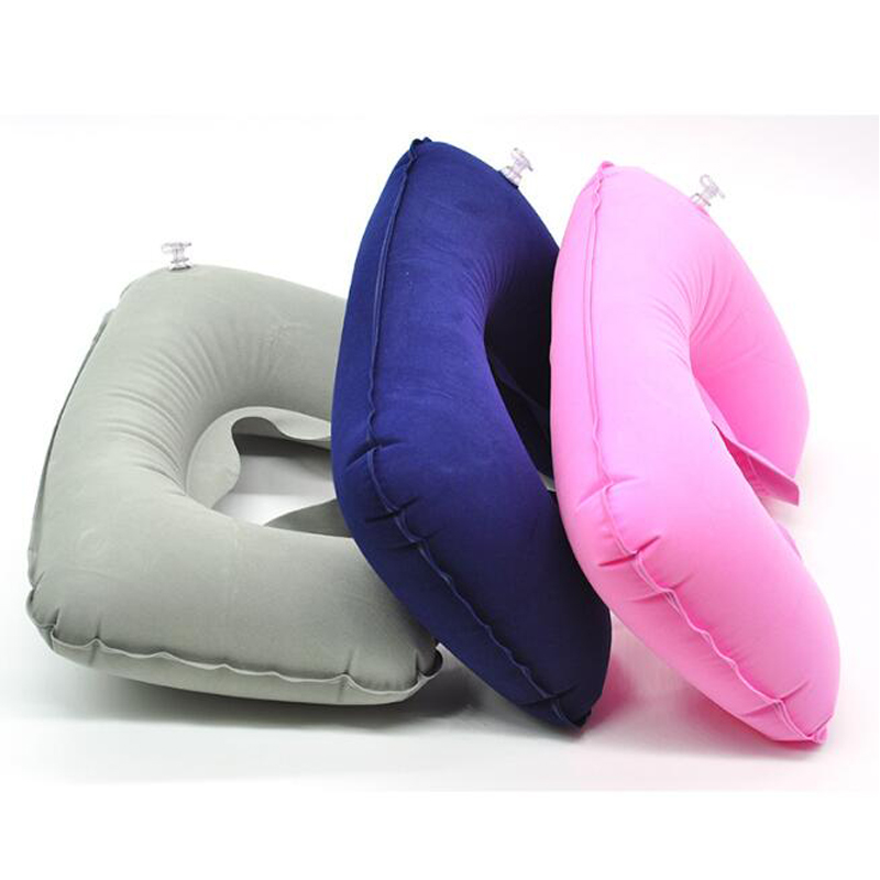 Inflatable Travel Neck Pillow for Airplane Train