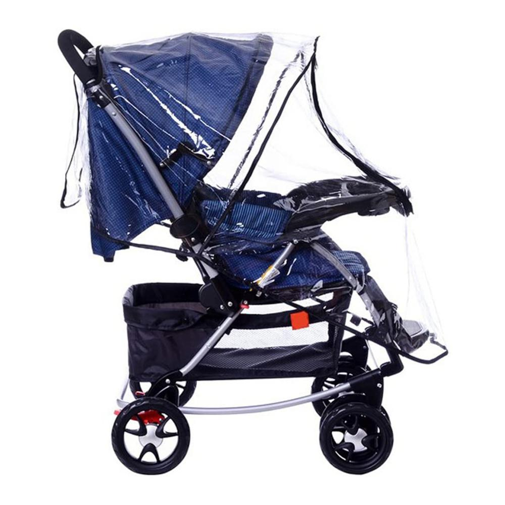 Hot Baby Universal Transparent Clear Pushchair Stroller Buggy Pram Waterproof Rain Cover Wind Weather Shield for Protector