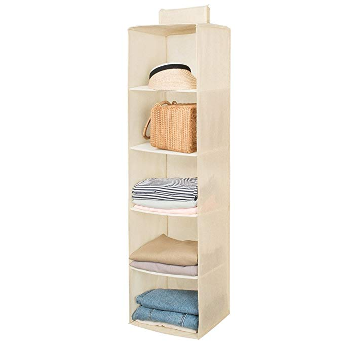 4 Layer Hanging Closet Storage Bin Clear Large Custom Packaging Clothing Box Foldable Fabric Storage Box