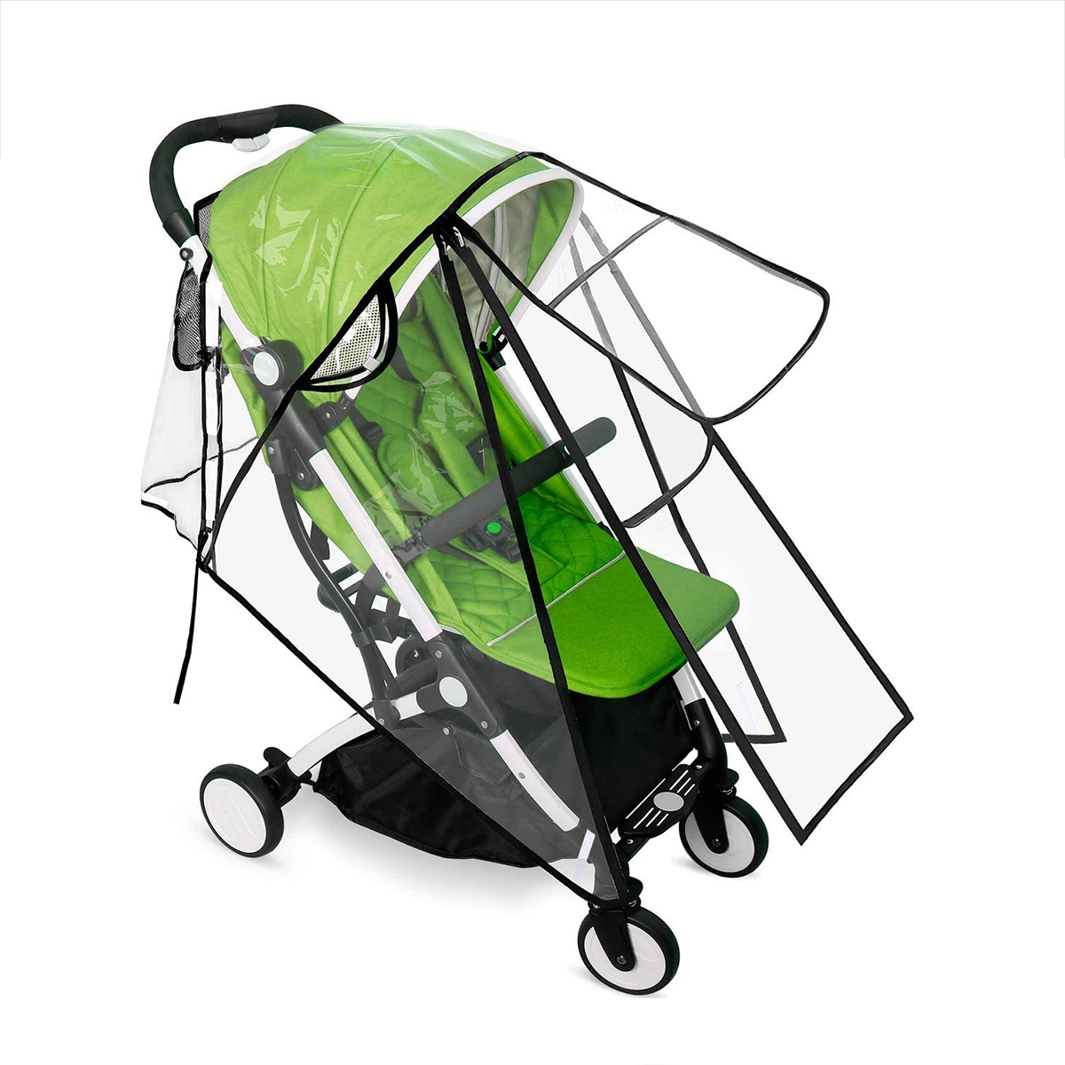 Hot Universal Stroller Rain Cover, Double Door Design & Large Storage Baby Stroller Weather Shield, Waterproof Stroller Cover