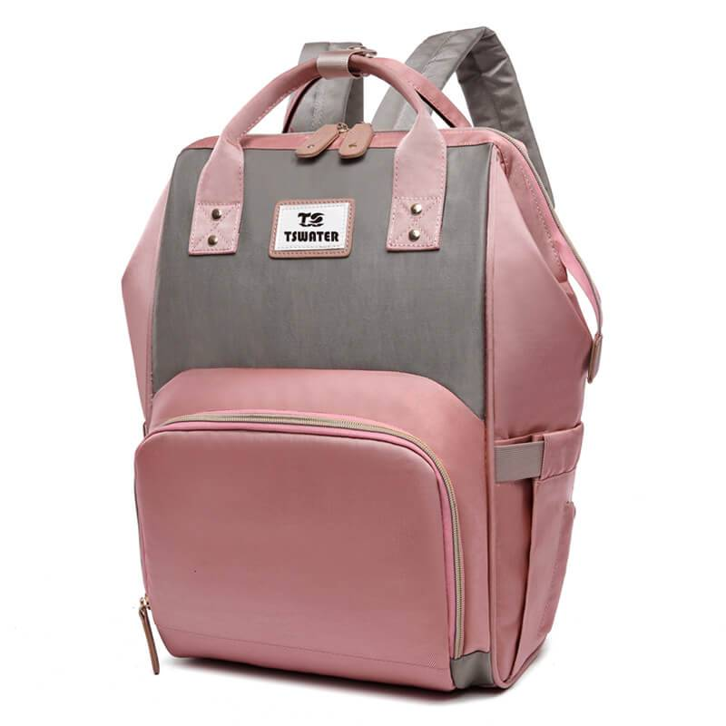 New fashion color contrast large capacity mommy bag out waterproof Oxford backpack Featured Image