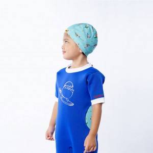 Soft and stretchable cartoon pattern children swimming cap manufactuer