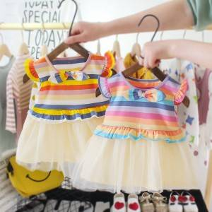 Little Girls  Sleeveless  Casual Birthday Dress with Tutu Skirt