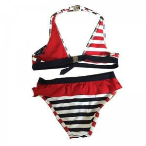 Girl's two-piece triangle bikini swimsuit Swimwear