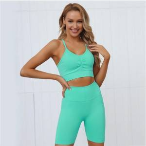 2020 Women Gym Suit Sport Bra Tops Yoga Leggings Set Private Label Yoga Pants Set Kids Yoga Clothes