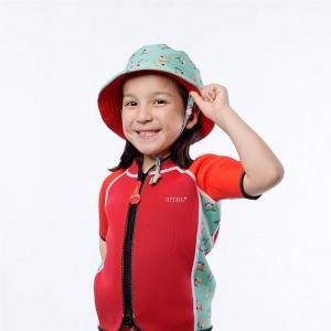 Stringable fabric soft children's sun hat
