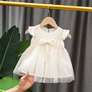 Baby girl dress short sleeve summer toddler lace dress