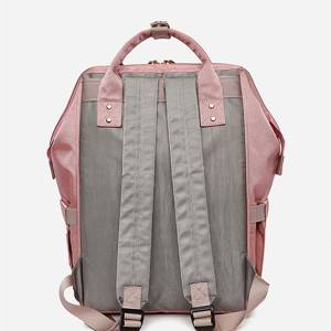 New fashion color contrast large capacity mommy bag out waterproof Oxford backpack