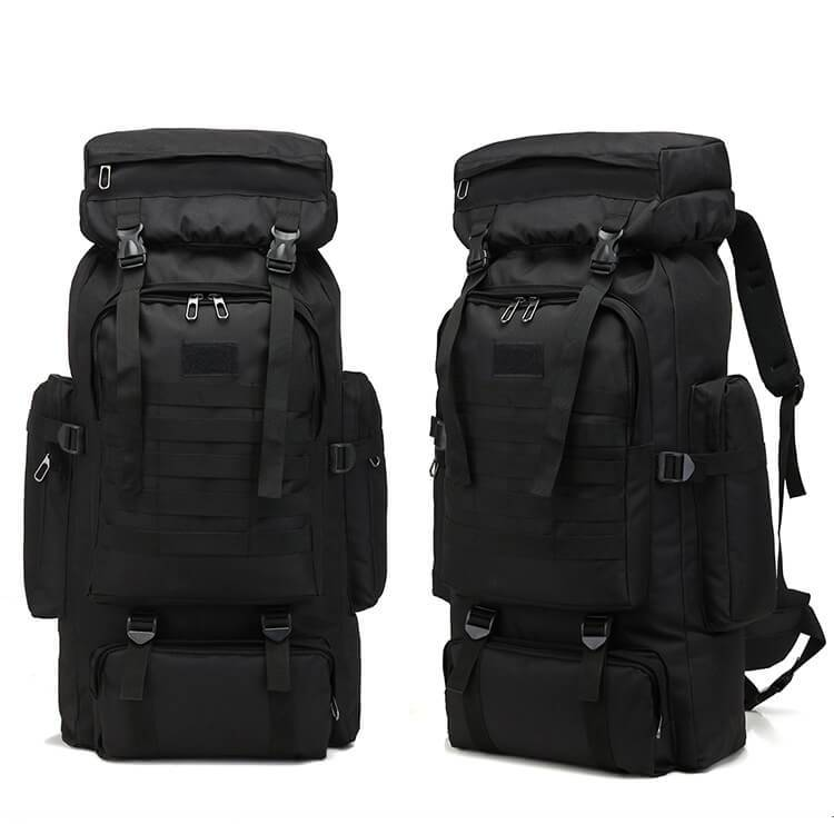 Multifunctional backpack canvas bag outdoor hiking backpack Featured Image