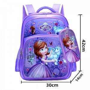 Cartoon children's school bag boys and girls burden relief shoulder bag