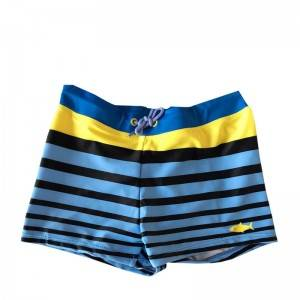 Boys' flat corner quick drying cartoon swimming trunks