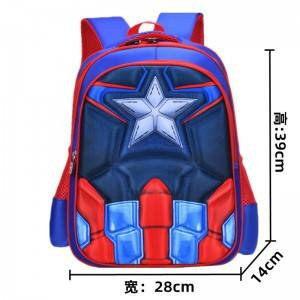 Cartoon 3D printing kids EVA backpack school bag