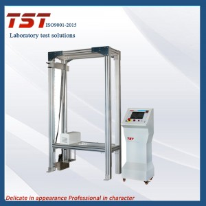 Adjustable fence and handrail dynamic strength testing machine