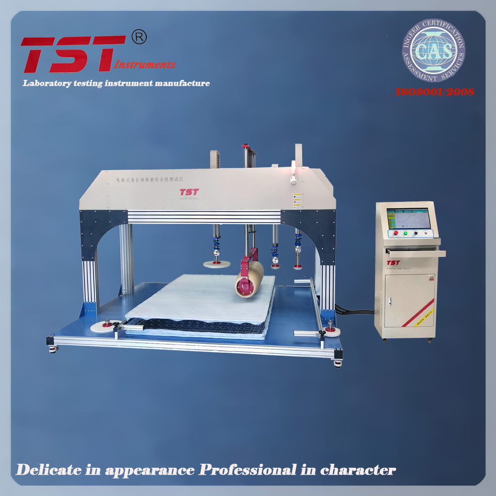 Mattress combined tesing machine for roller durability,height ,firmness and edge pressure durability-mattress testing equipment Featured Image