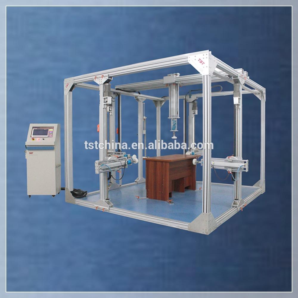 Koka mēbeļu mehānikas visaptverošs testu mēbeļu veiktspējas test