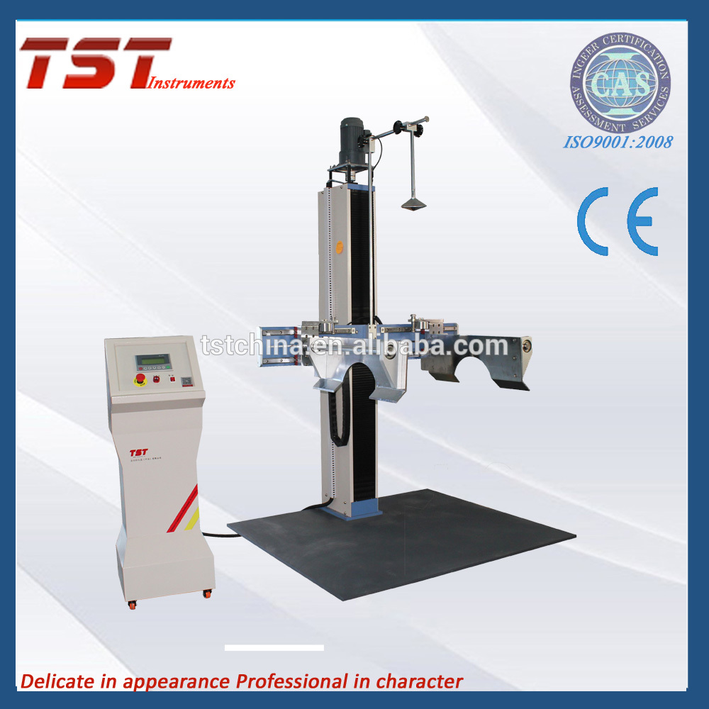 Complete filled transport packages vertical impact test by dropping-package drop tester