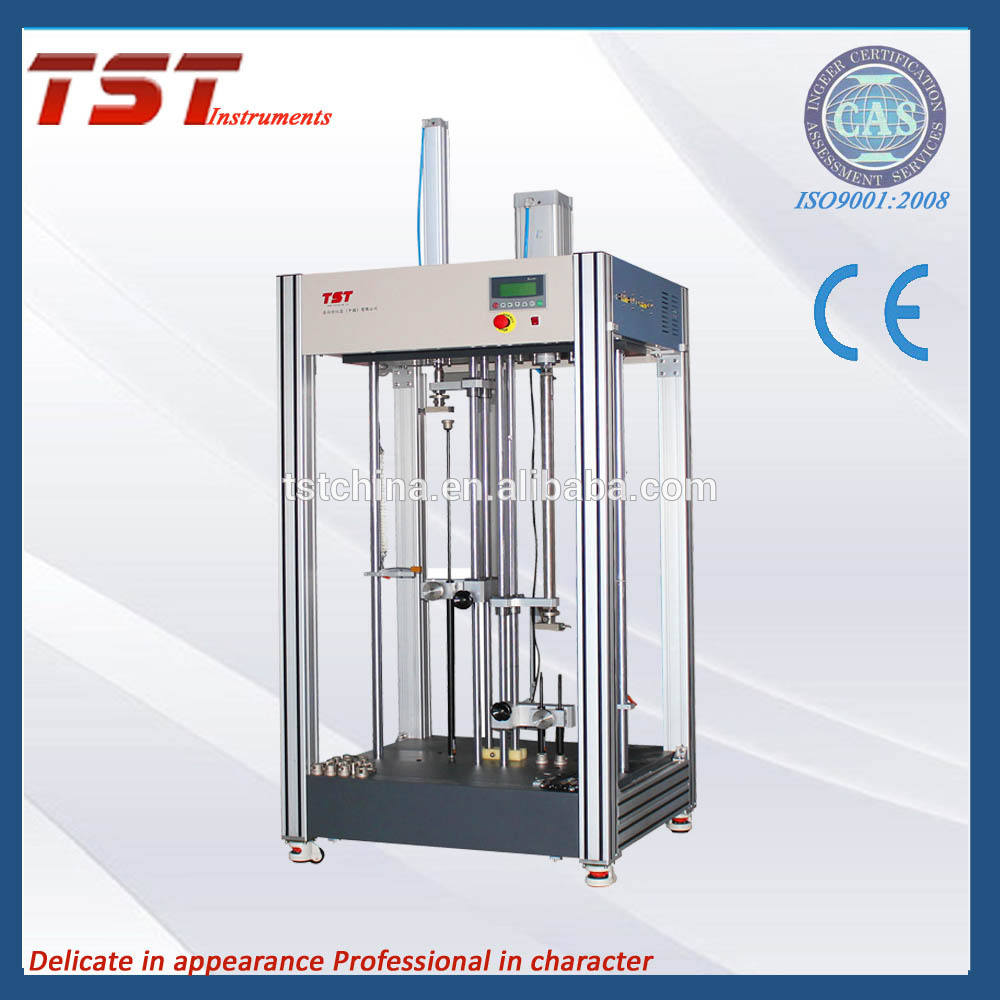 Gas spring piston rod cycle life test  through hign and low temperature storage tests
