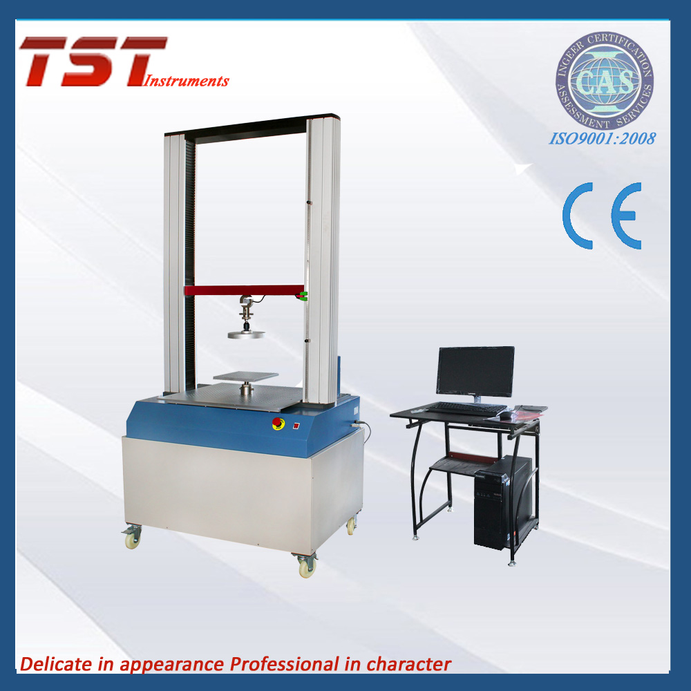Foam polymeric material indentation and universal tensile tester integrated machine