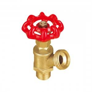 Brass Boiler Valve with Drain  NPT Male x Hose Thread Male