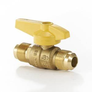 Brass Gas Ball Valve Flare x Flare Straight