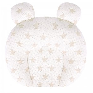 Baby Pillow Anti Deflection Latex Shaped Pillow for Newborn 0-1 Years Old Baby Products Colored Cotton Baby Pillow