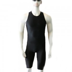 Racing Swimming Surfing Half-leg Pants One-piece Swimsuit Men's Tight Vest One-piece Swimsuit