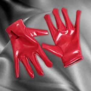 Latex Short Gloves Maid Stage Wear Pu Leather Gloves