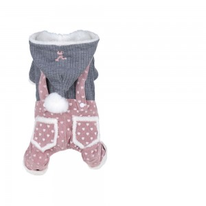 Puppy Dog Clothes Female Teddy Bichon Pomeranian Schnauzer Small Thick Four-legged Pet Autumn and Winter Coat