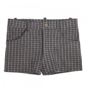 Check Cotton Men Tight Shorts and Casual Pants