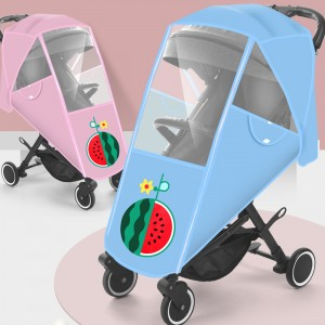 Baby Carriage Rain Cover Children's Car Wind Shield Baby Cart Car Anti Haze Cart Protective Cover Raincoat Universal