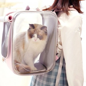 Cat Bag Portable Pet Backpack Dog Cat Large Space Capsule Walking Cat Bag Carry Schoolbag