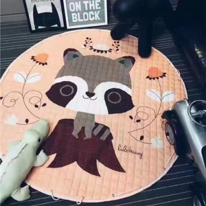 Cotton Circular Cartoon Carpet Children's Toys Storage Floor Mat Environmental Protection Baby Crawling Pad