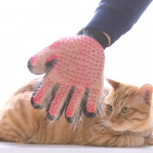 Cat Hair Removal Comb Hair Sticking Comb Dog Massage Gloves Cat Massage Comb Pet Bath Brush Gloves