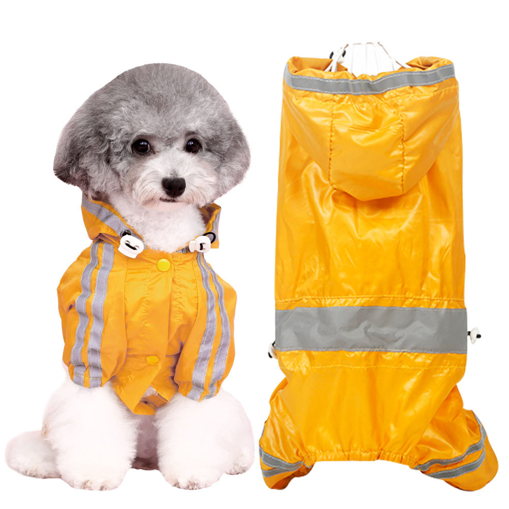 Dog Clothes Four-legged Raincoat Small Dog Teddy Bichon Corgi Chihuahua Puppy Summer Coat Featured Image
