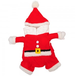 Pet Clothes Cosplay Dog Dressing into Santa Claus Teddy Dog Sweater in Autumn and Winter