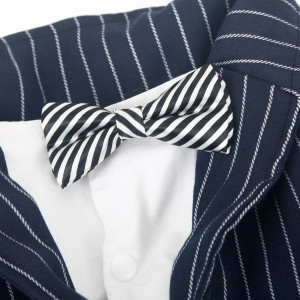 Pet Clothes Big Dog Striped Bow Tie Suit Clothes Dog Coat Pet Supplies
