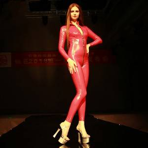 Fashion Mirror Spandex Latex Full Body Siamese Locomotive Movie and TV Night Dance T Catwalk Tights Catsuit