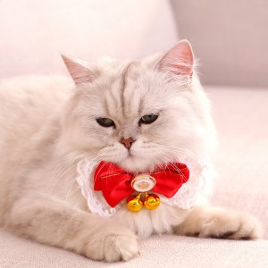 Pet Bowtie Bell Pet Jewelry Folding Pet Necktie Garfield Pet Puppy Bell Jewelry Supplies