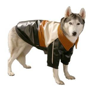 Big Dog Coat Medium Sized Large Dogs Warm in Winter Thick PU Leather Jacket for Pets Autumn and Winter
