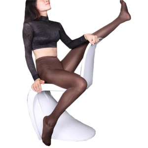 High Waist Corset One-piece Stockings Ice Silk Sexy Tight Bottoming Socks