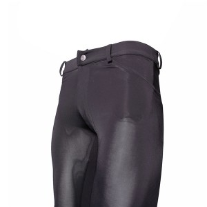 Foot pants, silk cotton slim casual pants, Korean version of trendy men's feet, high elastic ice silk tights