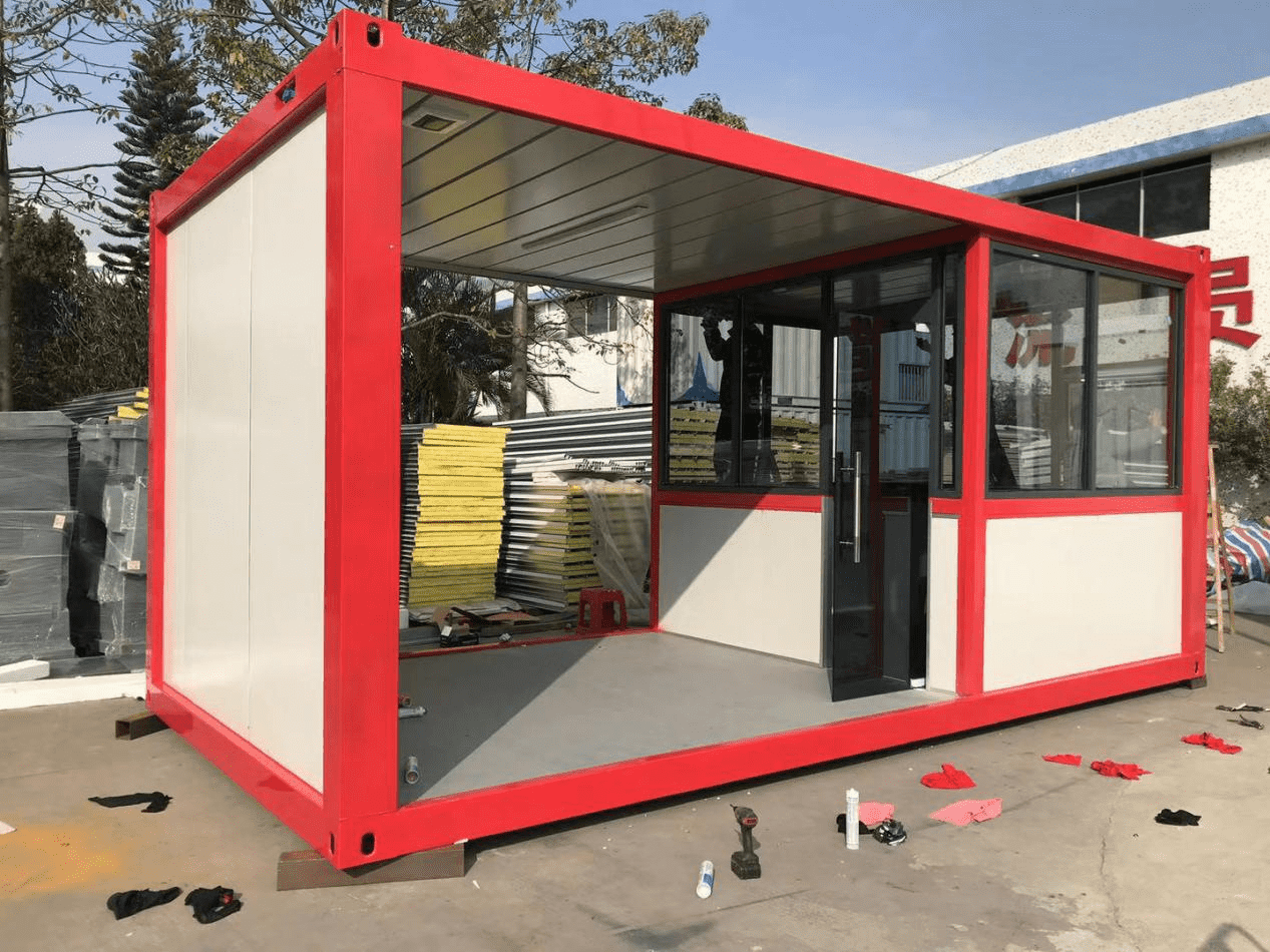 What are the main advantages of flat pack container house?