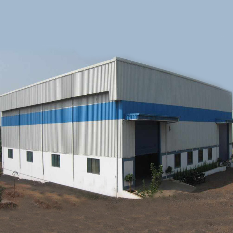 Low price Metal building construction design large span single two story steel structure warehouse building Featured Image
