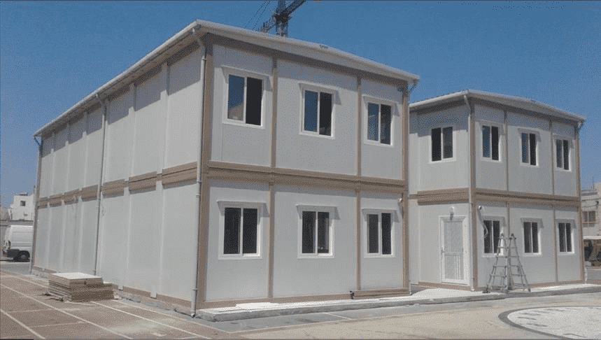 What is the advantage of flat pack container house?