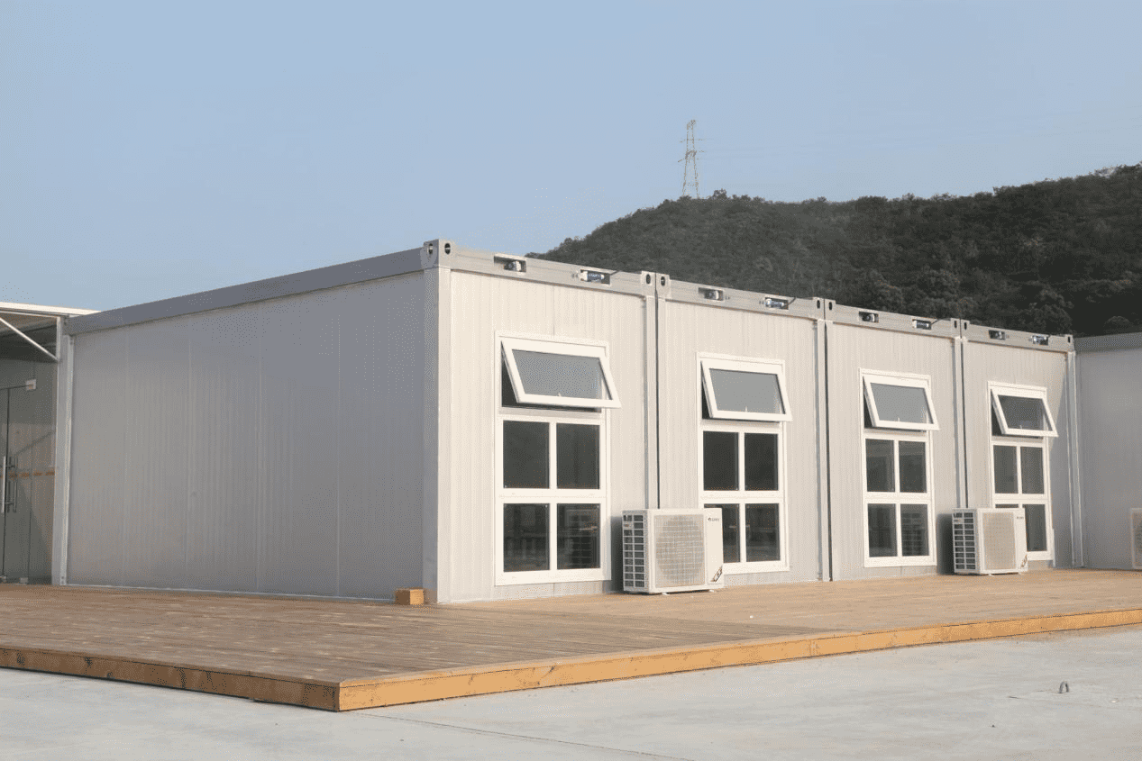 What are the materials and characteristics of container house?