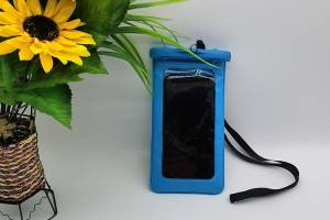 waterproof bag in blue color