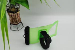 waterproof bag in green transparent