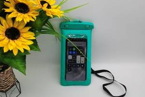 waterproof bag in green color