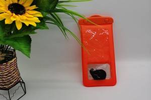 Waterproof bag in orange color